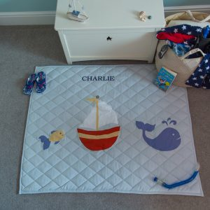 Kiddiewinkles Nautical Themed Children's Cotton Floor Quilted Play Mat