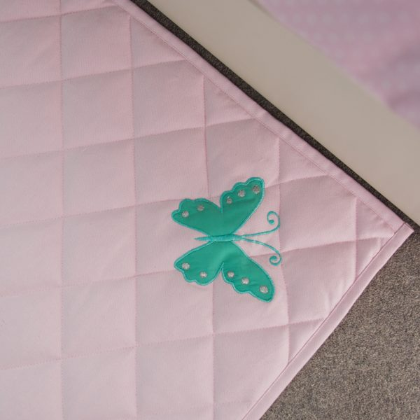 Kiddiewinkles Children's Unicorn Butterfly Floor Quilted Play Mat