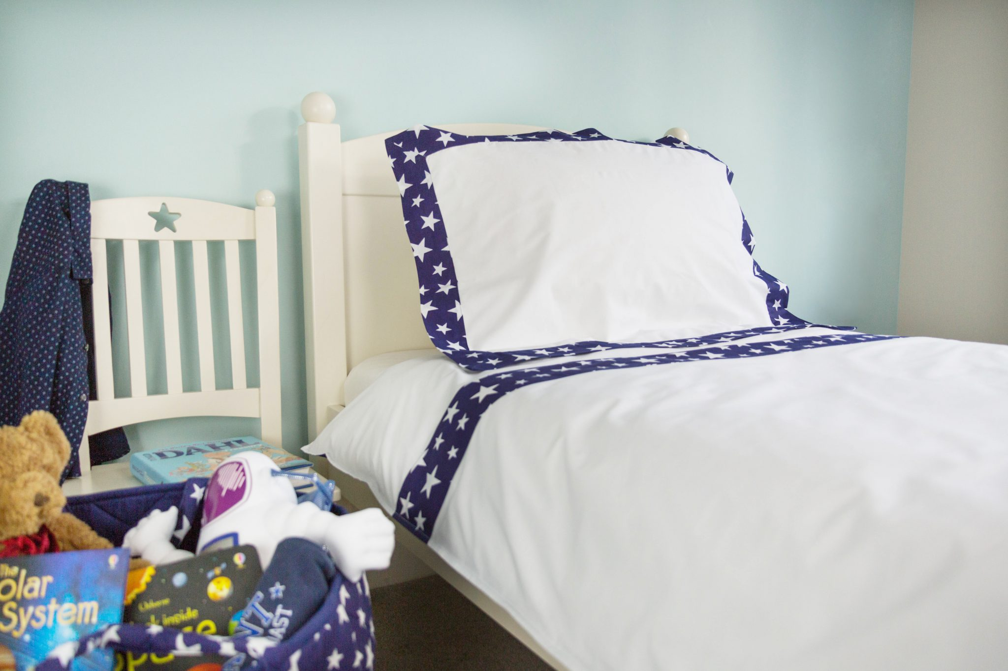 Kiddiewinkles Blue Star Bedding Set