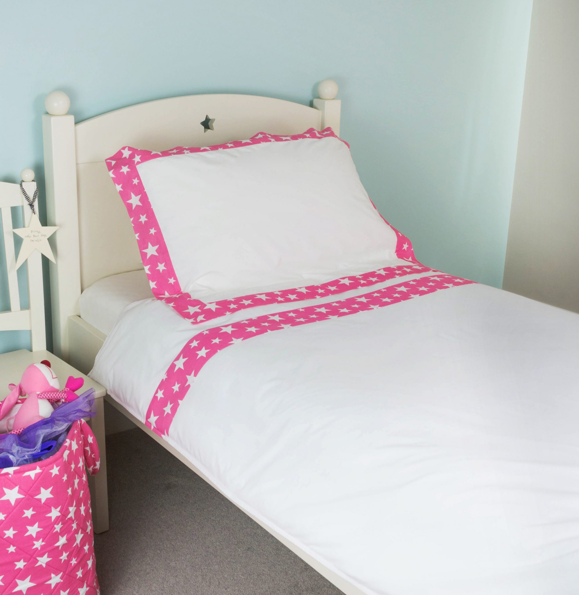 Kiddiewinkles Pink Start Children's cotton bedding set