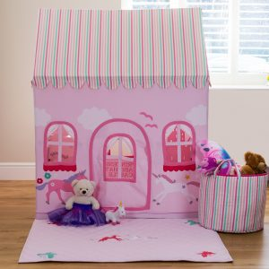 pink girls play tent