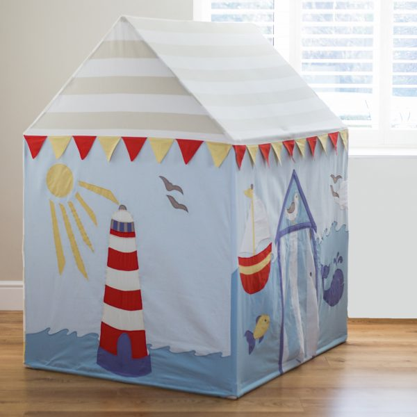 Large Beach Hut and Seaside Playhouse & Kiddiewinkles Childrens Personalised Playhouse Beach Hut and Seaside