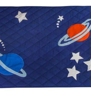 Kiddiewinkles Outer Space Children's Quilted Floor Play Mat