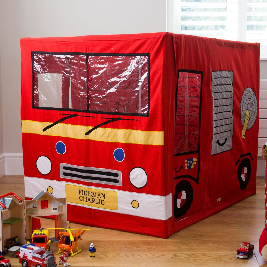 Fire Engine Childrenu0027s Cotton Play Tent & Kiddiewinkles Childrenu0027s Cotton Fire Engine Playtent