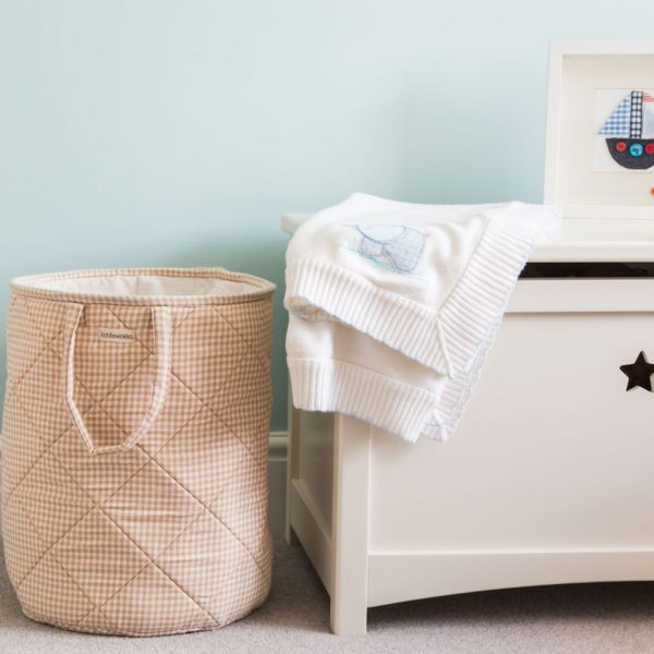 Children's Neutral Gingham Laundry Bag