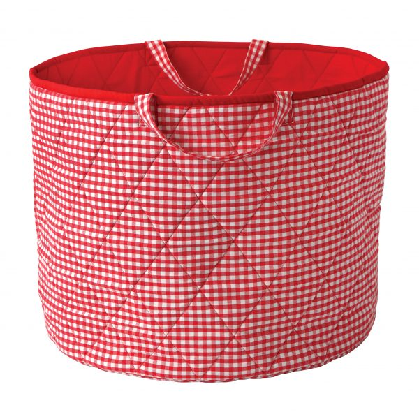 Kiddiewinkles Red Gingham Large Children's Toy Storage Basket
