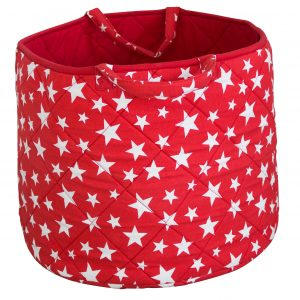 Kiddiewinkles Red Star Large Children's Toy Storage Basket