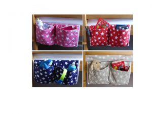 These children's bedside pocket organisers in our exclusive star fabrics is just so useful. Ideal for all beds, particularly children's cabin beds and bunk beds where a bedside table can be tricky! Great to keep things within easy reach whilst in bed such as books, a water bottle, cuddly toys or a torch.