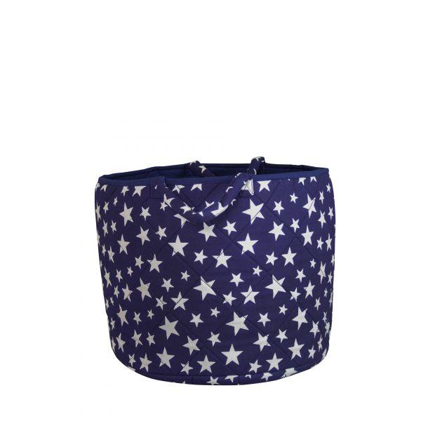 Kiddiewinkles Blue Star Large Children's Toy Storage Basket