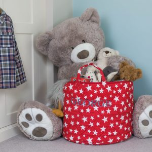 Kiddiewinkles Red Star Large Children's Toy Storage Basket